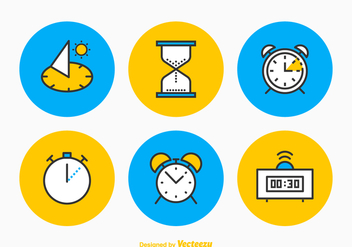 Free Time Vector Icon Set - vector gratuit #356157