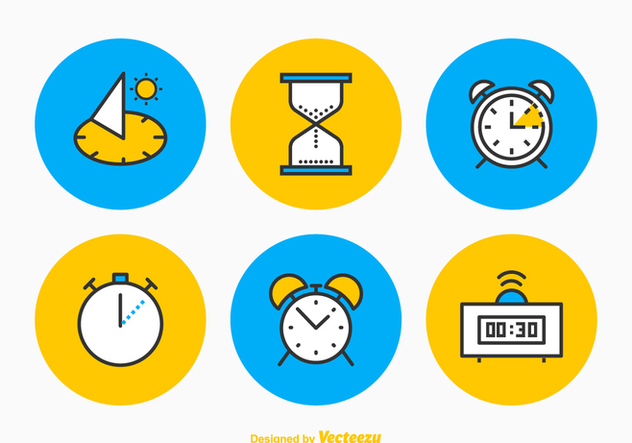 Free Time Vector Icon Set - Free vector #356157