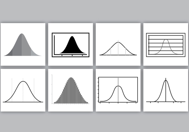 Bell Curves Vector Pack - Free vector #356167