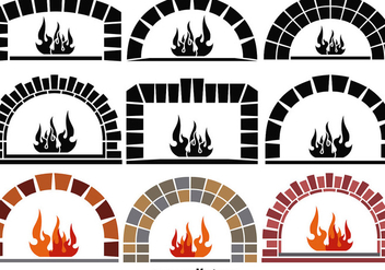 Vector Pizza Ovens Elements - Kostenloses vector #356177