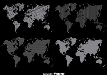 Worldmap Vector Set - Free vector #356187