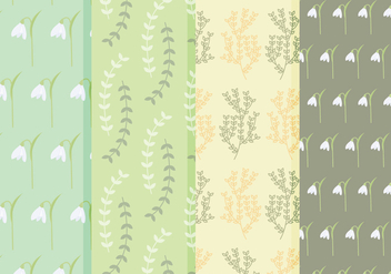 Free Spring Flower Vector Patterns - Free vector #356207