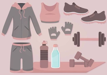 Vector Gym Accessories - бесплатный vector #356227