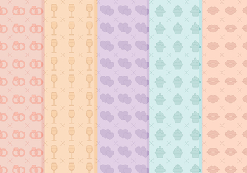 Free Wedding Vector Patterns - Free vector #356237