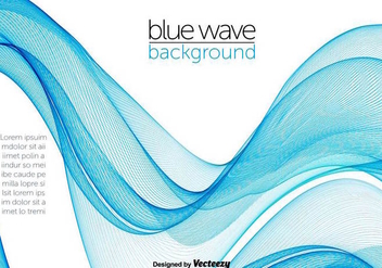 Blue Abstract Swish Wave Vector - vector gratuit #356247