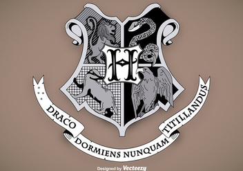 Hogwarts School Shield Vector - Free vector #356267