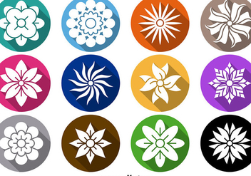 Flower Icon Vector Set - бесплатный vector #356317