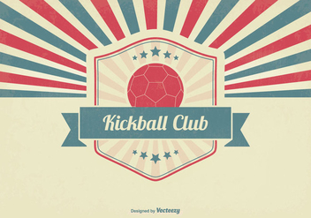 Retro Kickball Club Illustration - Free vector #356327