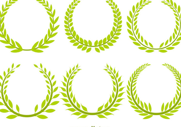 Olive Wreath Vector Set - vector gratuit #356357