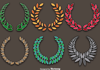 Colorful Wreaths Vector Set - vector gratuit #356417