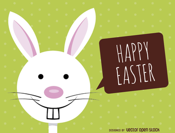 Fancy Easter bunny card - Free vector #356437
