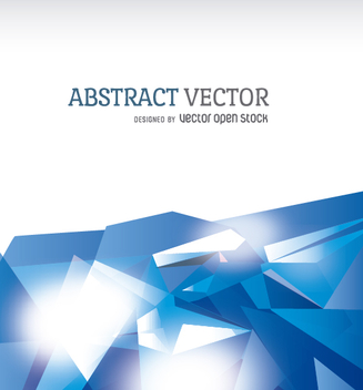Abstract polygonal background in blue tones - vector gratuit #356447