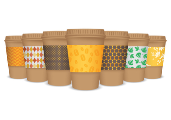 Realistic Coffee Sleeve Vectors - Free vector #356487