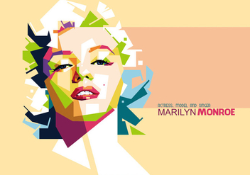 Marilyn Monroe Portrait Vector - бесплатный vector #356527