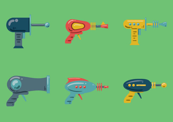 Free Laser Gun Vector Illustration - vector gratuit #356547