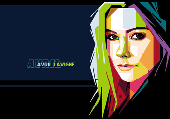 Avril Lavigne Vector Portrait - vector #356567 gratis