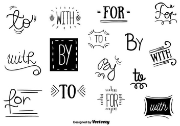 Catchwords Vector Set - vector #356607 gratis