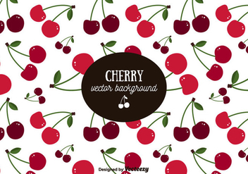 Cherry Pattern Background - vector gratuit #356617