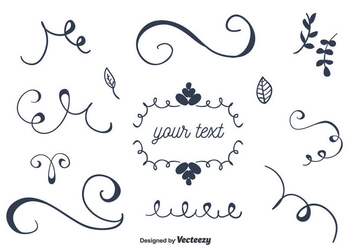 Set Of Ornaments Vector - бесплатный vector #356627