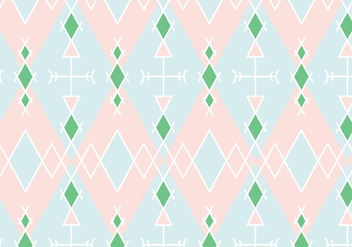 Pastel Geometric Pattern Background - vector gratuit #356707