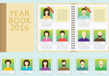 Year Book Vector Template - Free vector #356767
