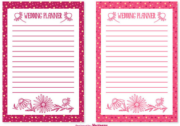 Cute Wedding Planner Set - Free vector #356777