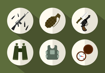 Army Vector Icons - бесплатный vector #356797