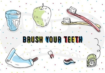 Free Vector Teeth Brushing Icons - Free vector #356817