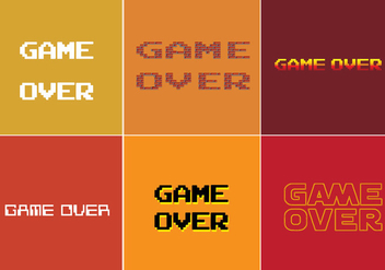 Game Over Vector - Free vector #356827