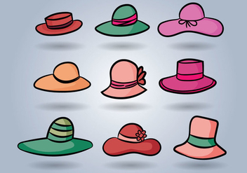 Ladies Hat Vector - бесплатный vector #356847