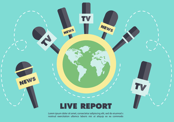 Free Journalism Press Vector Backround - vector gratuit #356867