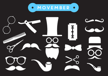 Movember Shave Vector Icons - бесплатный vector #356897