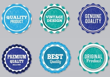 Free Vector Style Labels With Eroded Grunge - Kostenloses vector #356907