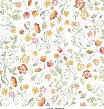 Floral watercolor wallpaper - Free vector #356927