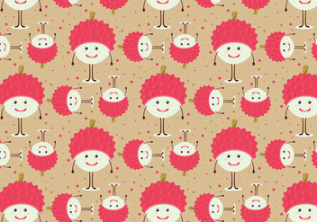 Free Vector Lychee Fruit Pattern - Free vector #356957
