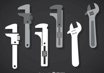 Monkey Wrench Vector Sets - vector gratuit #356967