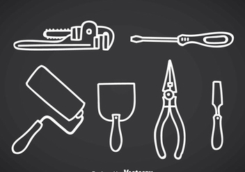 Construction Tools Outline Icons - vector gratuit #356977