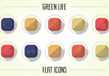 Free Healthy Lifestyle Flat Icons Vector - бесплатный vector #357027