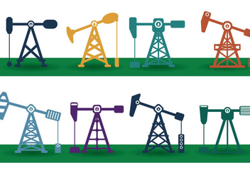 Oil Field Vector - vector gratuit #357077