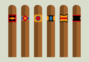 Free Cigars Vector Pack - бесплатный vector #357107