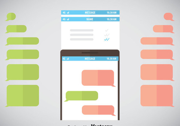 Imessage Template Vector - Free vector #357167