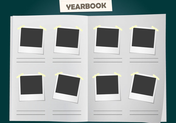 Album Yearbook Vector Template - vector gratuit #357187
