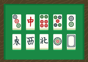 Mahjong Vector Cards - бесплатный vector #357207
