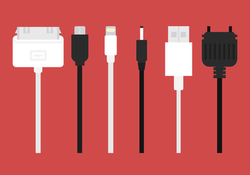 Phone Charger Vector Cables - бесплатный vector #357227