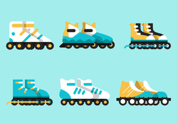 Roller Blade Vector Sets - Free vector #357247