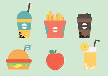 Free Fast Food Icon Vectors - vector gratuit #357317