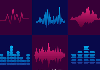 Minimal Sound Bars Icons Sets - vector gratuit #357347