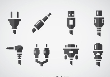 Cable Wire Computer Icons Vector - vector #357367 gratis