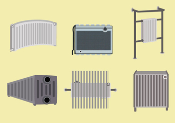 Radiator Equipments Vector - vector gratuit #357377