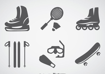 Sports Gray Icons - Free vector #357407